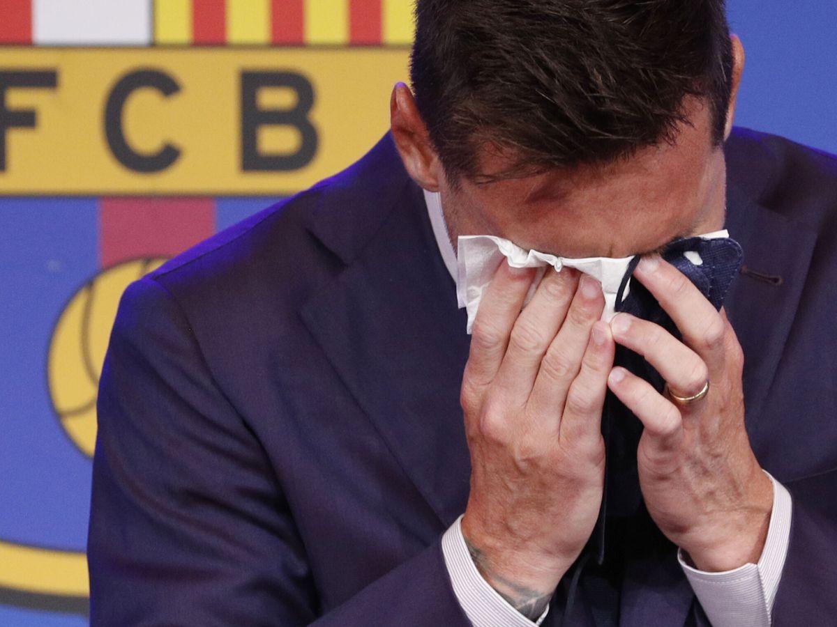 Foto: Messi, durante la rueda de prensa. (REUTERS)