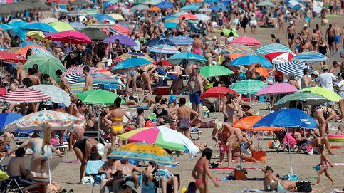 Playas llenas en el segundo fin de semana de agosto