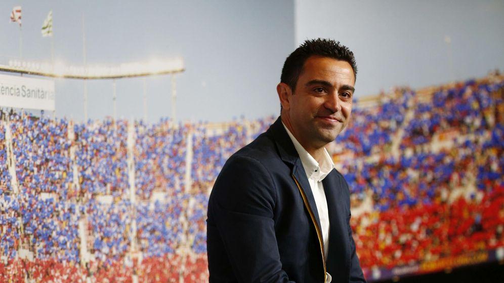 Foto: Xavi el día de su despedida del FC Barcelona. (EFE)