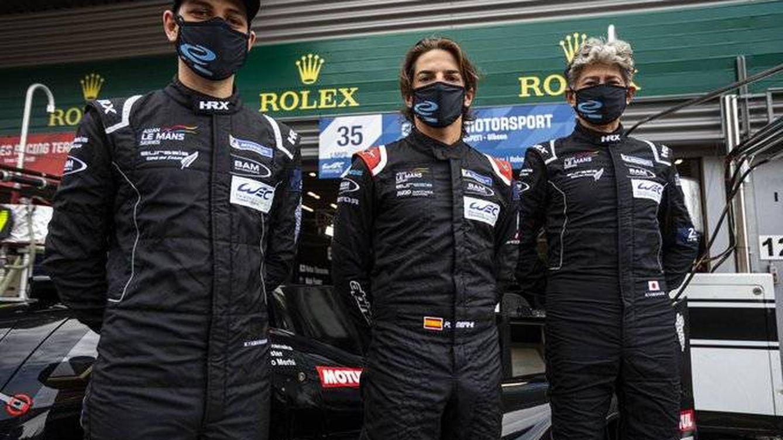 Foto: Roberto Merhi, con Nobuya Yamanaka y Nick Foster en las pasadas 24 Horas de Le Mans