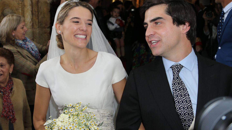 Irene Michavila y Ramón Lladó, el día de su boda. (José Martín)