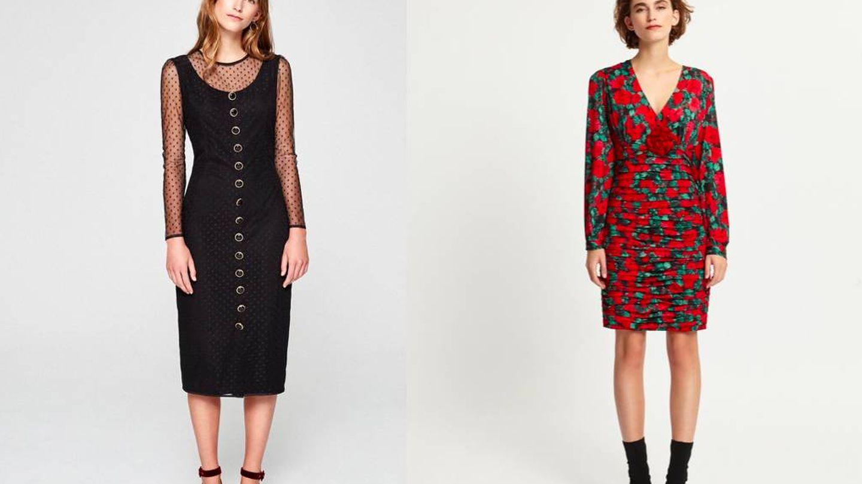 Vestido negro (69 €) y con print (92 €), de Mioh.