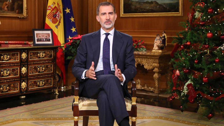 Fotograma del discurso del rey Felipe VI. (RTVE)