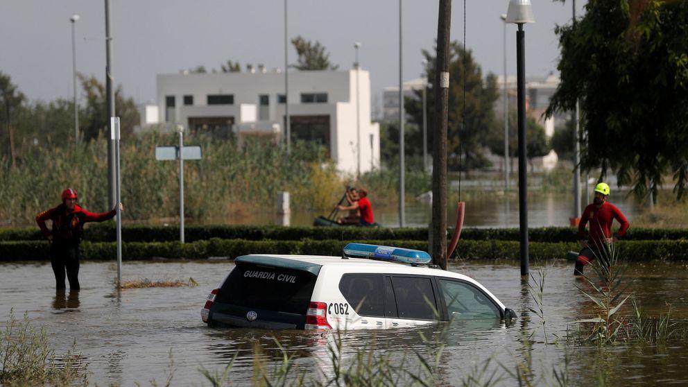 Dos desaparecidos en la provincia de Alicante tras las fuertes lluvias por la DANA
