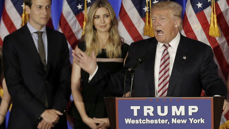 Foto: Donald Trump junto a Ivanka y Jared Kushner (Reuters)