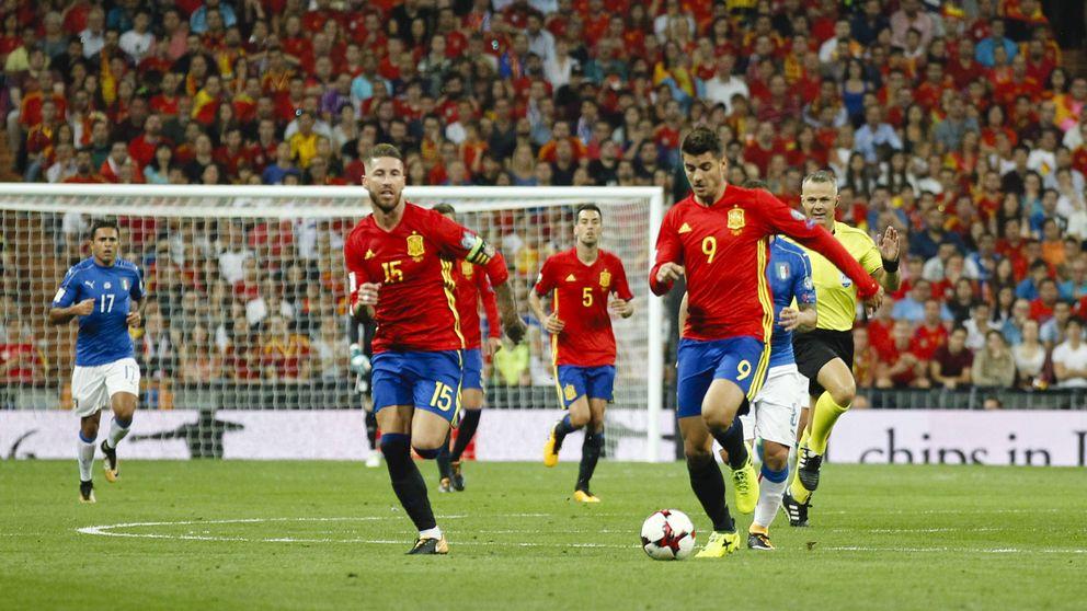La Roja encumbra a La 1 con un 44,8% de share con su goleada a Italia