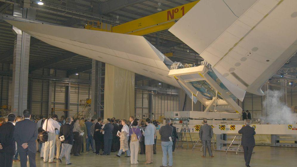 Foto: Estabilizador horizontal del A380 en la planta de Puerto Real. (Airbus)