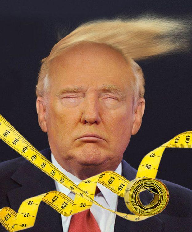 Foto: Donald Trump en un fotomontaje realizado en Vanitatis