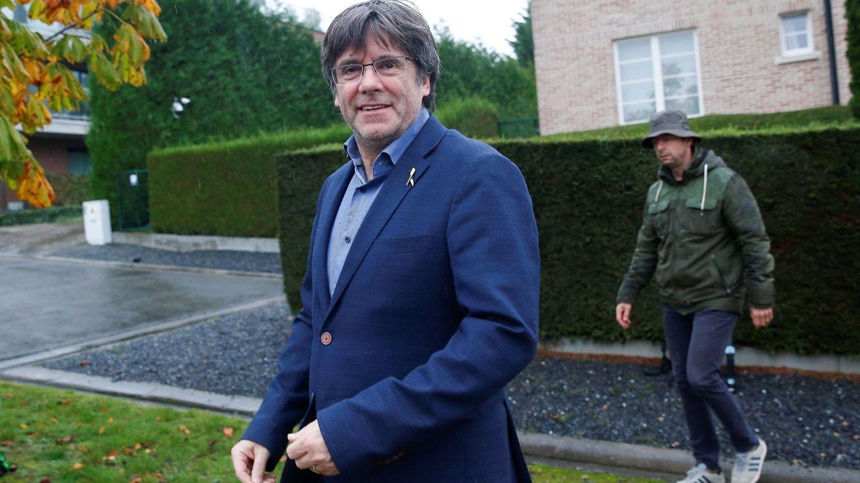 El expresidente de la Generalitat de Cataluña Carles Puigdemont, en Waterloo. (EFE)
