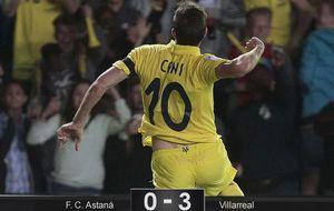 El Villarreal pone pie y medio en la Liga Europa tras arrollar al Astaná