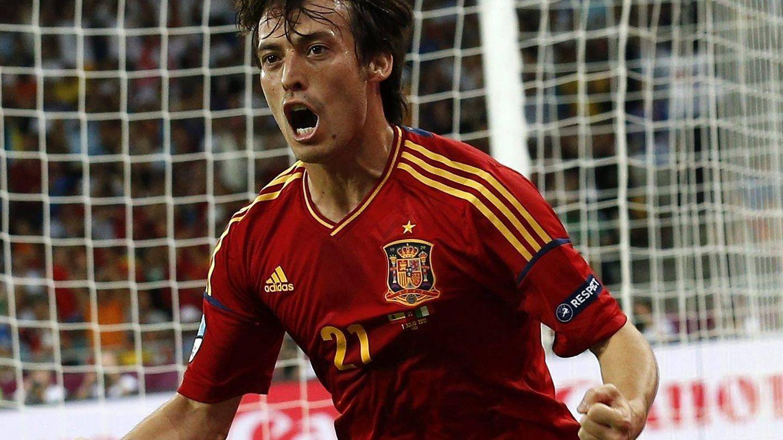 Silva marcó uno de los cuatro goles de España en la final de la Eurocopa 2012. (EFE)