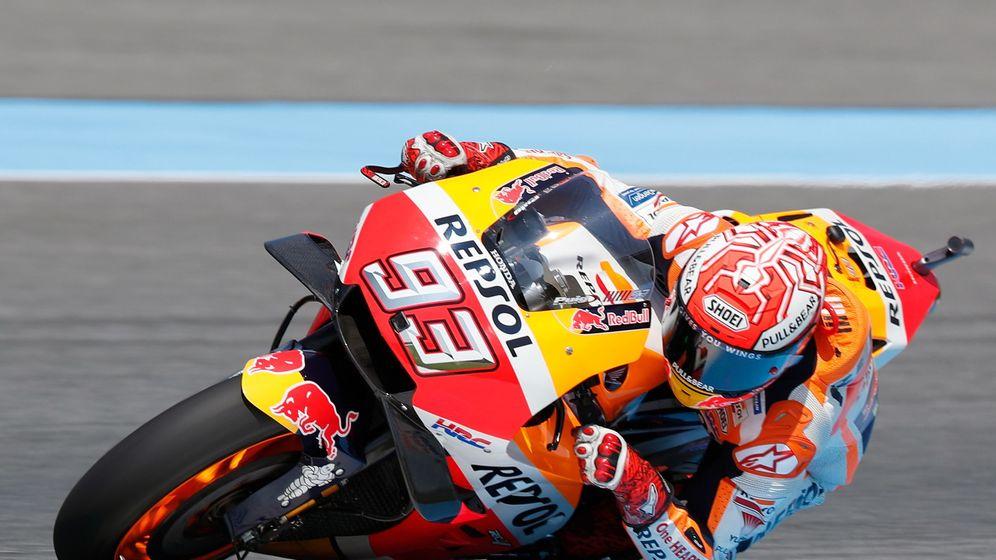 Foto: Marc Márquez, con 77 puntos de ventaja sobre Dovizioso, líder destacado de MotoGP. (EFE)