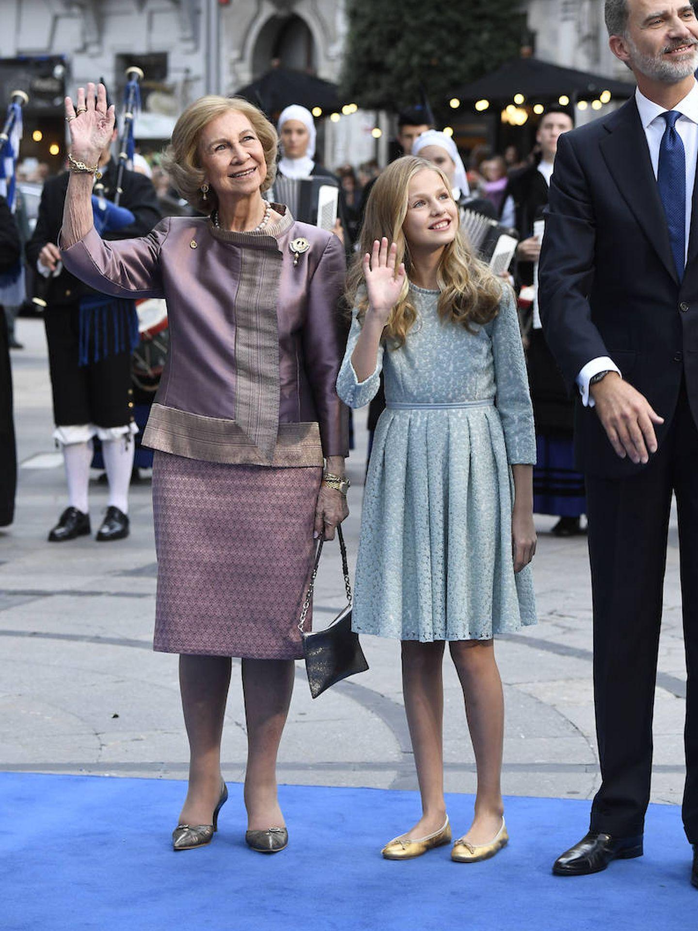 La reina Sofía con Leonor. (EFE)