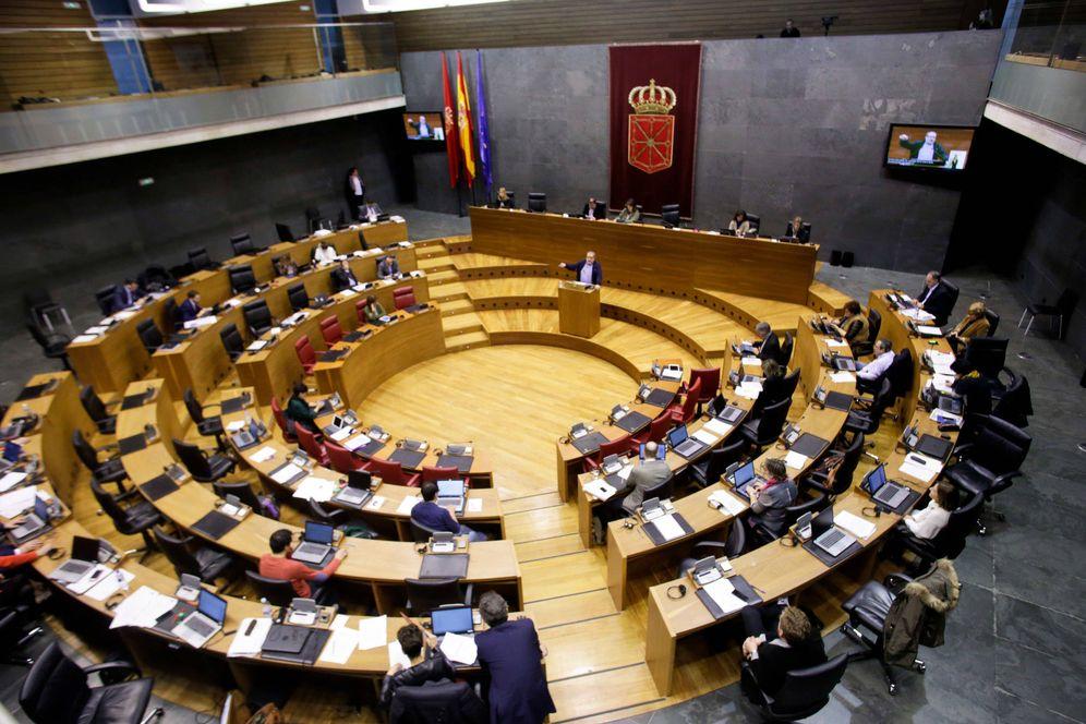 Foto: Pleno en el Parlamento de Navarra. (EC)