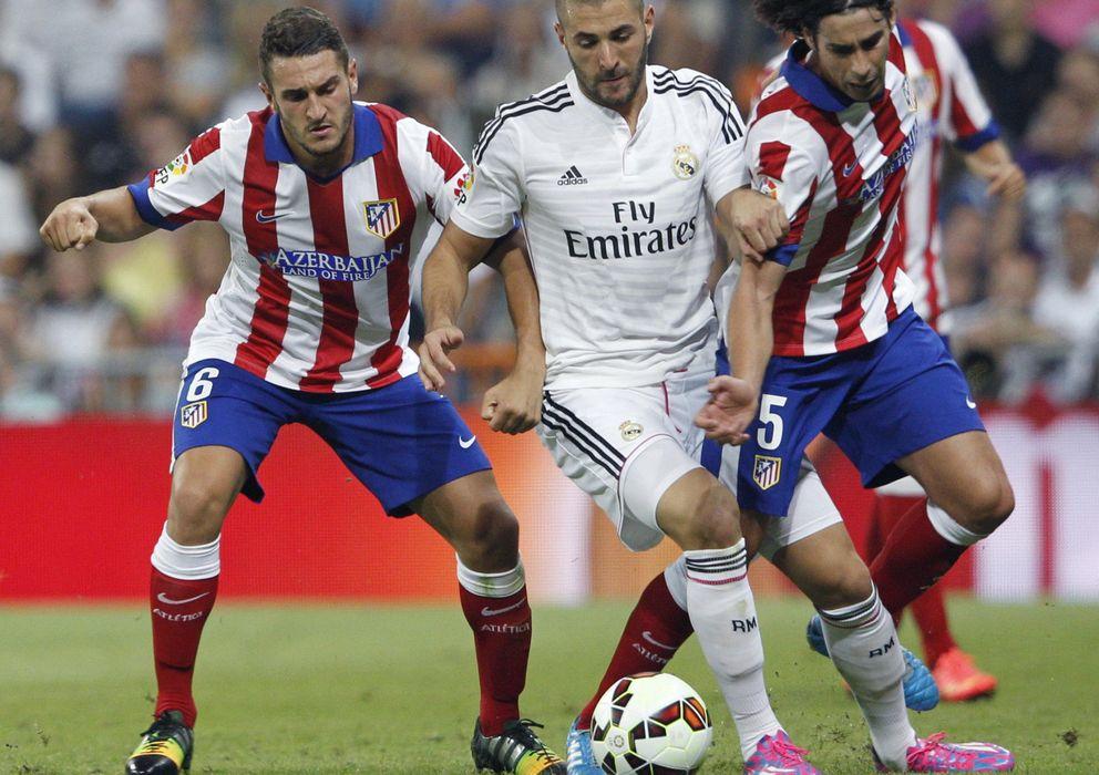 Foto: Real Madrid y Atlético, en el partido de Liga disputado hasta ahora en la presente campaña.
