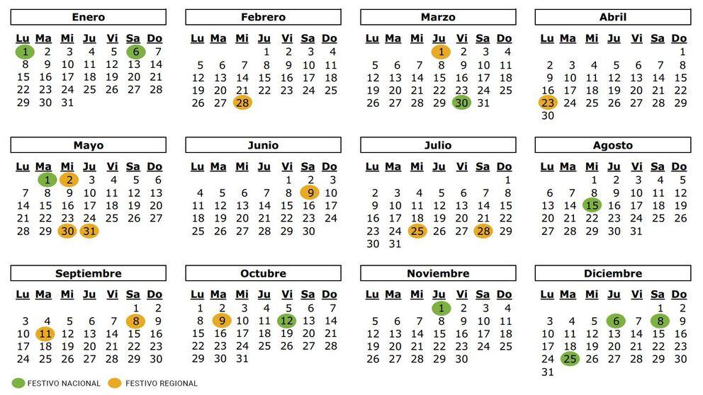 Calendario Escolar 2020 Cantabria.Calendario Escolar 2018 2019 Por Comunidades Festivos Y Lectivos