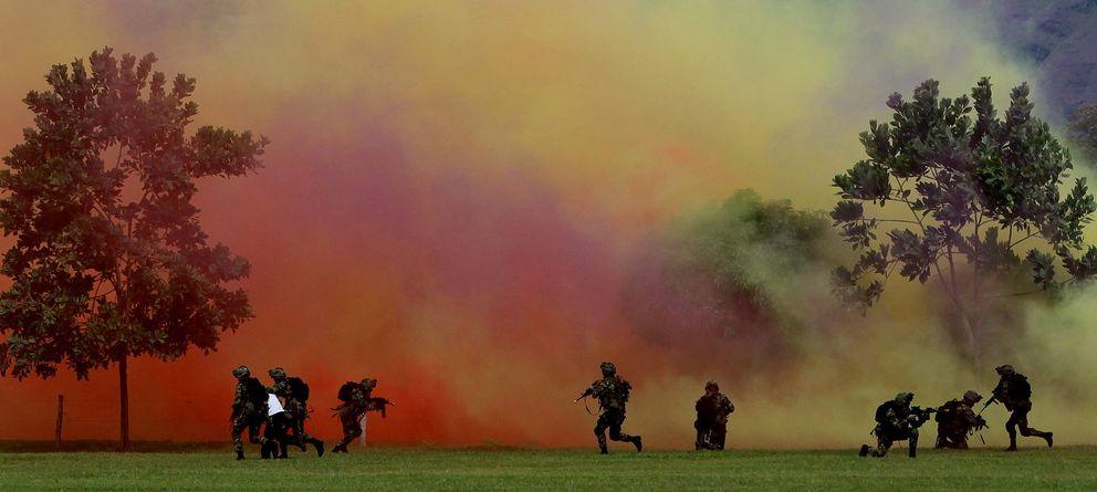 Foto: Un Comando Estratégico del ejército de EEUU se entrena bajo las directrices de CONOP 8888 en una base situada a las afueras de la ciudad de Omaha (Nebraska). (E