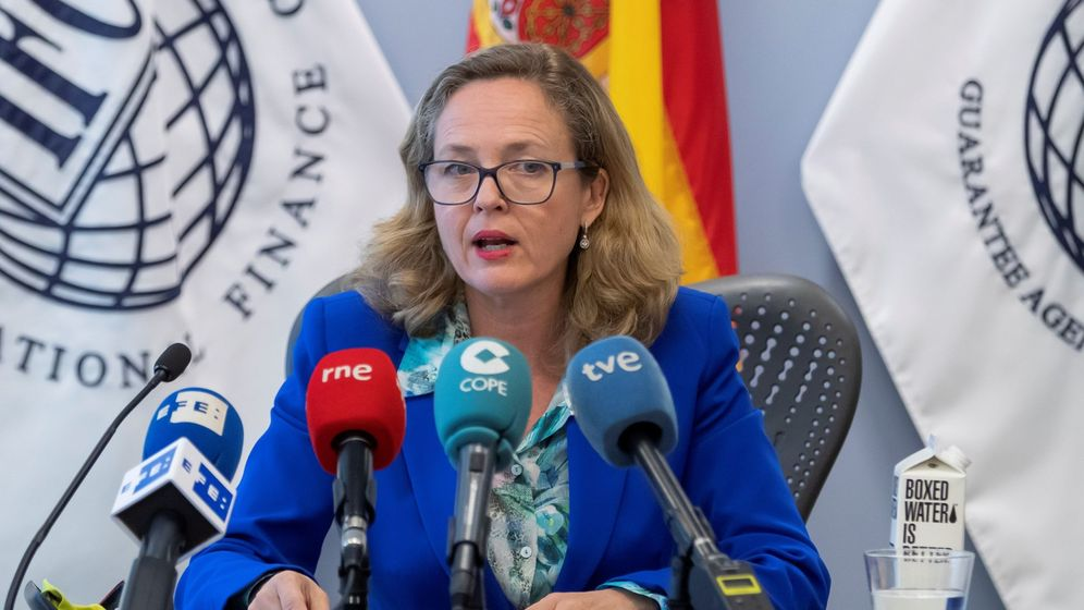 Foto: La ministra de Economía en funciones, Nadia Calviño (Efe)