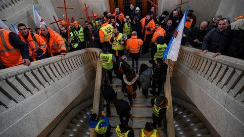Trabajadores de Alcoa se manifiestan en Lugo