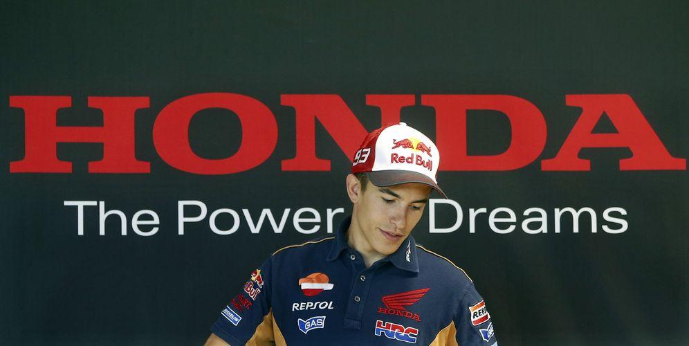 Foto: Márquez fue campeón del mundo con Honda en 2013 y 2014 (Andreu Dalmau/EFE)