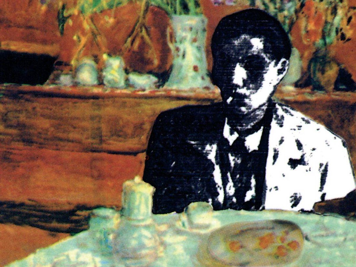 Foto: Ilustración de portada de 'El sobrino de Wittgenstein', a cargo de Ángel Jové a partir del cuadro 'Aprés le dîner', de Pierre Bonnard (c. 1920).