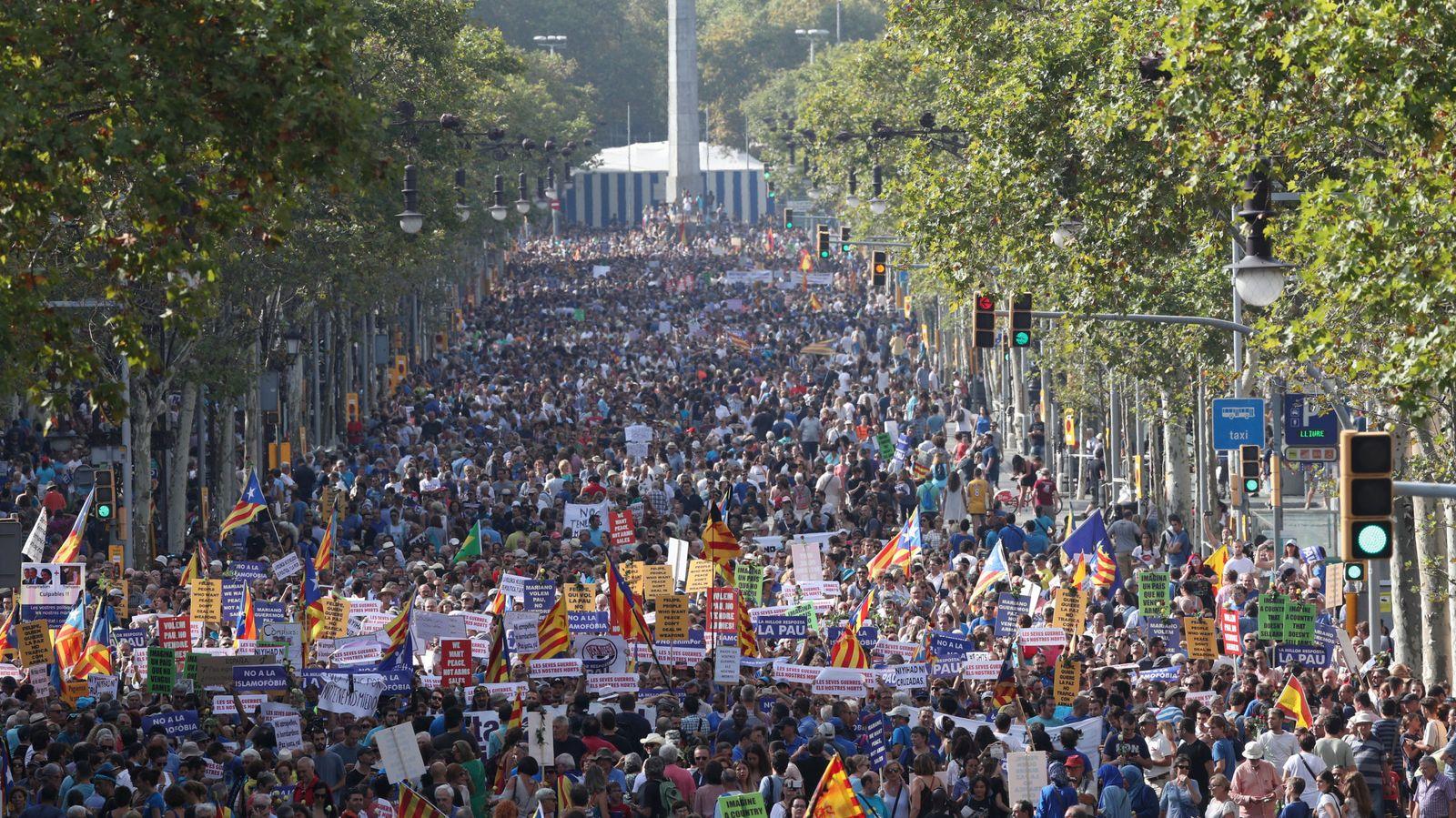 Foto: Manifestación Barcelona. (Reuters)