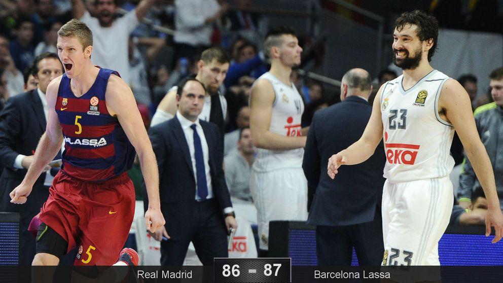 Doellman culmina sobre la bocina la remontada del Barça ante el Madrid