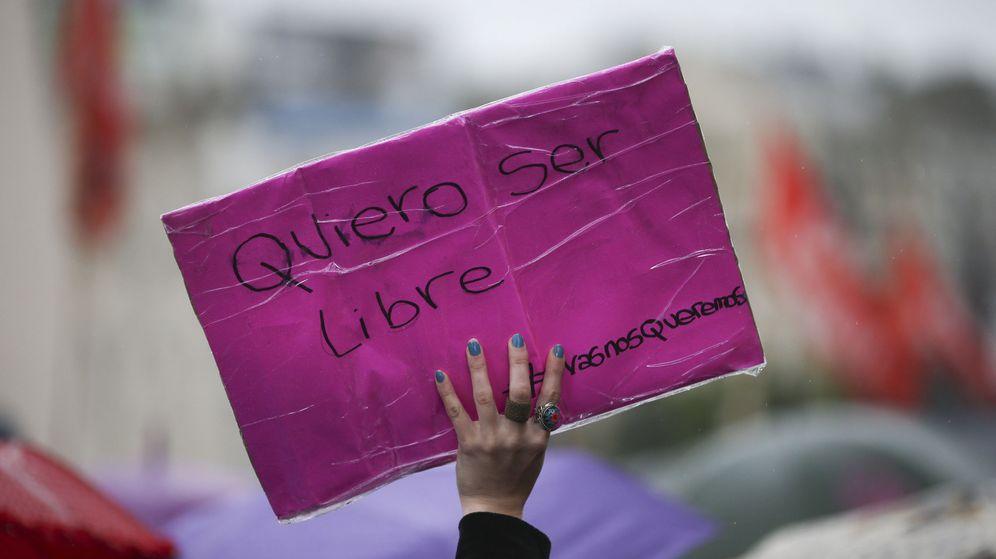 Foto: Manifestación en contra de la violencia de género. (EFE)