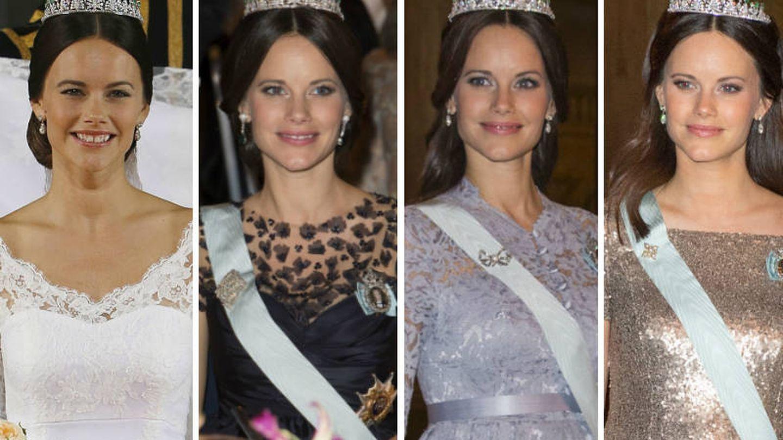 La princesa con su tiara de esmeraldas