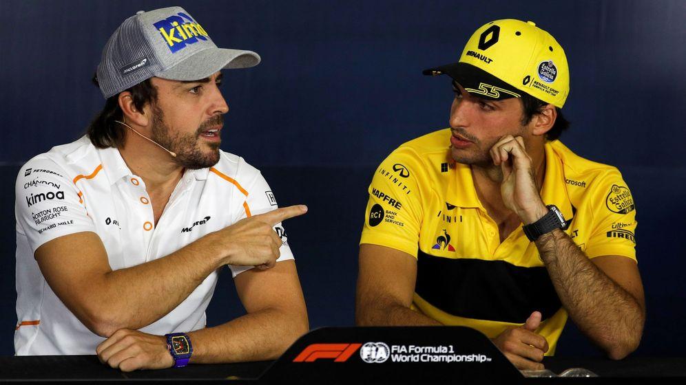 Foto: El plan a de McLaren era juntar a Alonso y Sainz. (EFE)