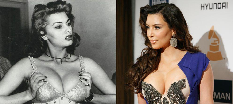 Foto: Sofía Loren y Kim Kardashian, cuerpos parecidos, pero actitudes... ¿diferentes? (Reuters)