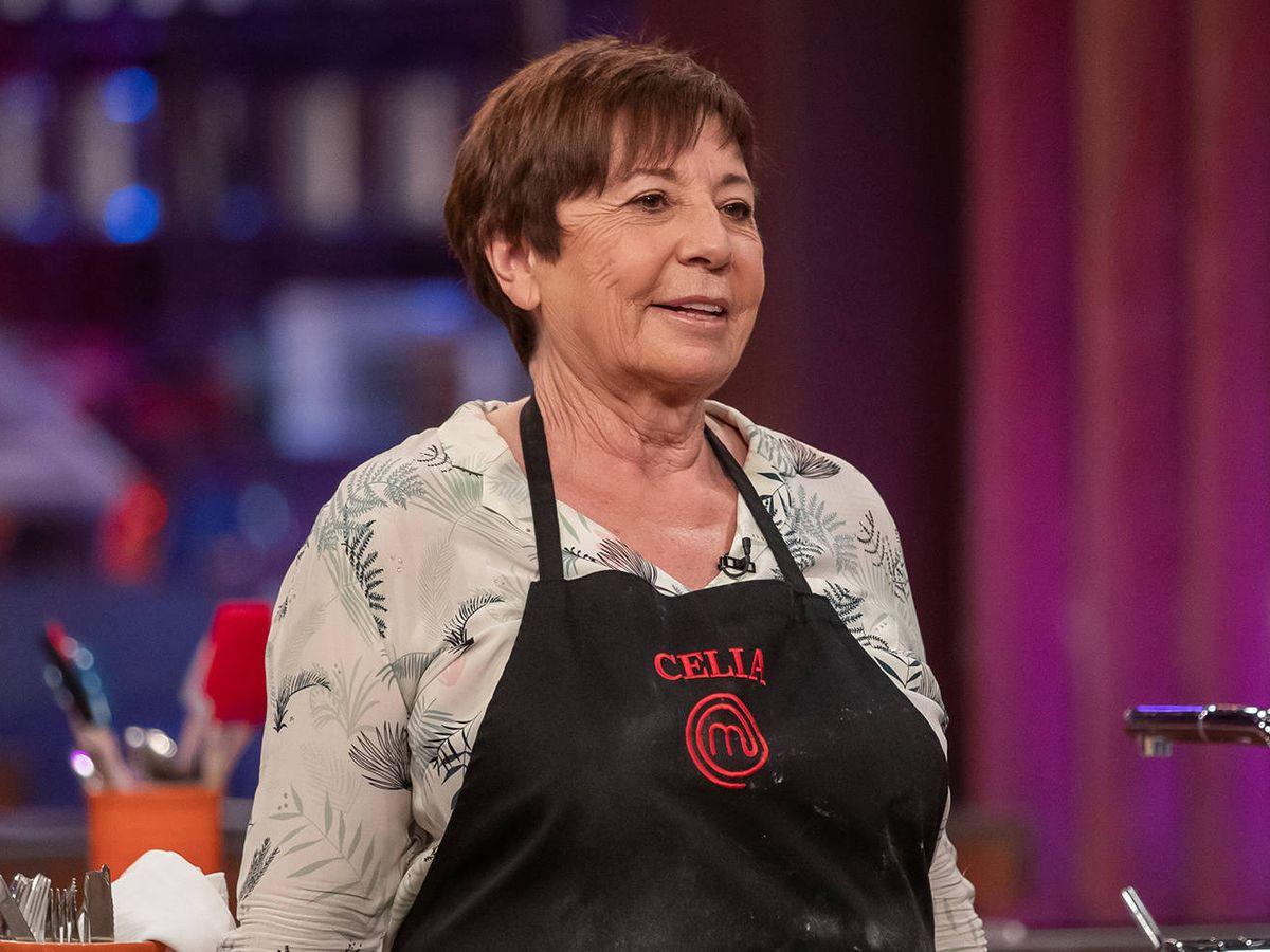 Foto: Celia Villalobos, en 'MasterChef Celebrity'. (TVE)