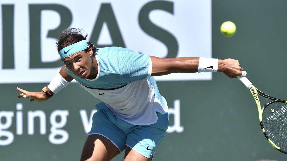 Foto: Rafa Nadal, en Indian Wells. (Efe)