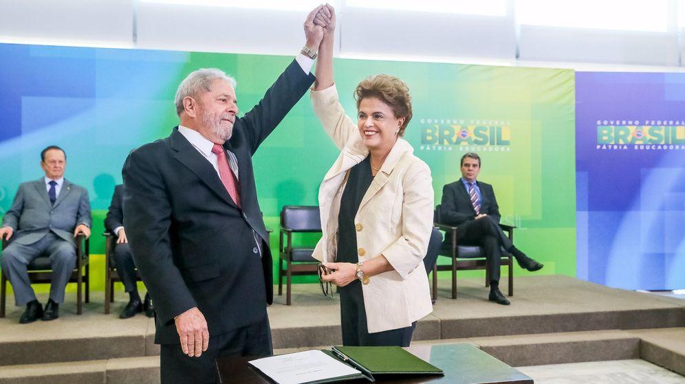 Foto: Acto en el que Lula prestó juramento hoy ante Rousseff. (Reuters)