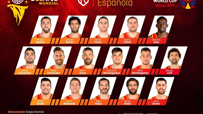 Los 16 convocados de la Selección española de baloncesto para la Copa del Mundo de China.