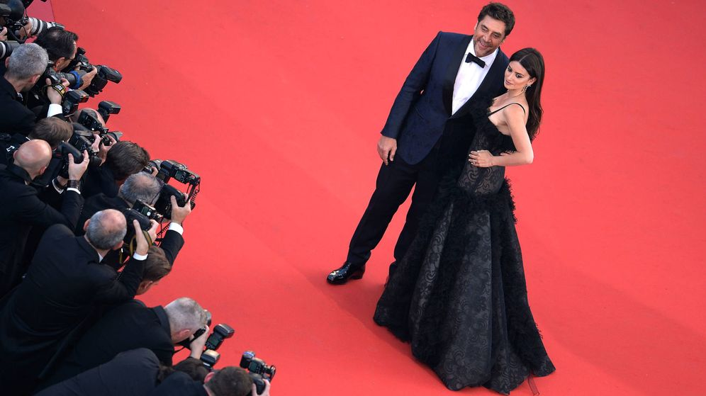 Foto: Penélope Cruz y Javier Bardem posan ante los fotógrafos a su llegada al Festival de Cannes (Getty Images)