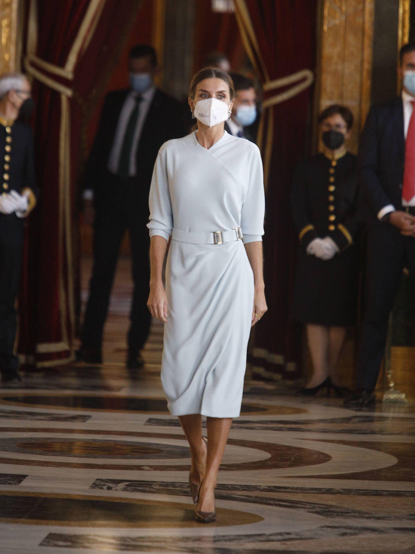La reina Letizia, antes de la recepción. (Limited Pictures)