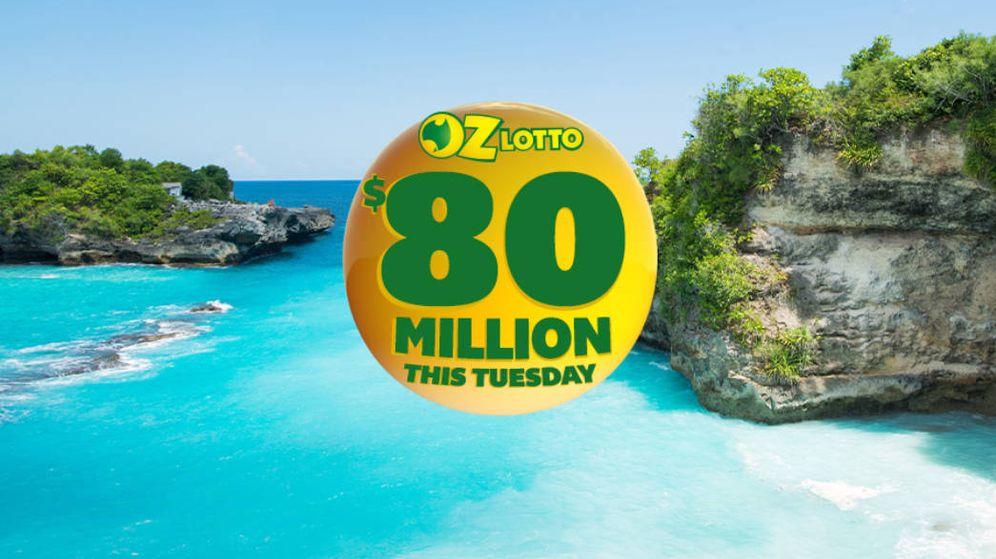 Foto: Así anunciaban el bote de ochenta millones de dólares que había en juego en la lotería australiana (Foto: OZ Lotto)