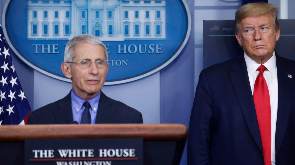 Foto: El epidemiólogo Anthony Fauci, junto a Donald Trump. (Reuters)