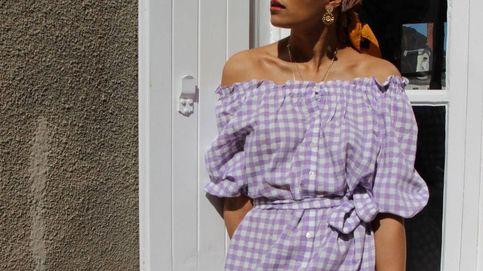 Los cuadros vichy y el lila se fusionan en un todo como tendencia imprescindible