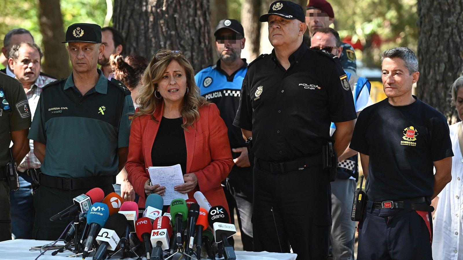 Foto: La delegada del Gobierno, María Paz García Vera, en la rueda de prensa que ofreció el miércoles tras hacerse oficial el hallazgo del cuerpo. (EFE)