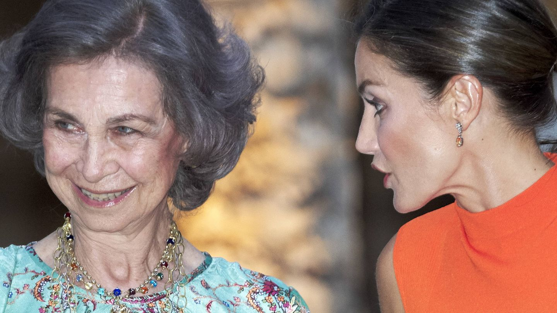 Con la reina Sofía, en Mallorca. (Getty)