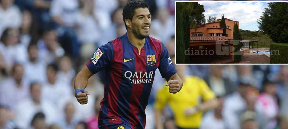 Foto: El jugador del FC Barcelona y una fotografía de la vivienda que ha adquirido el uruguayo, cedida por 'Diario Gol'