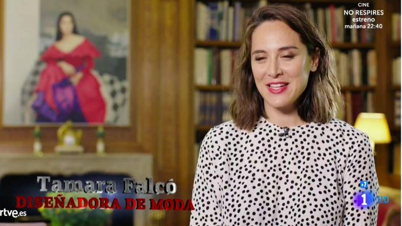Tamara apuesta por los lunares. (RTVE)