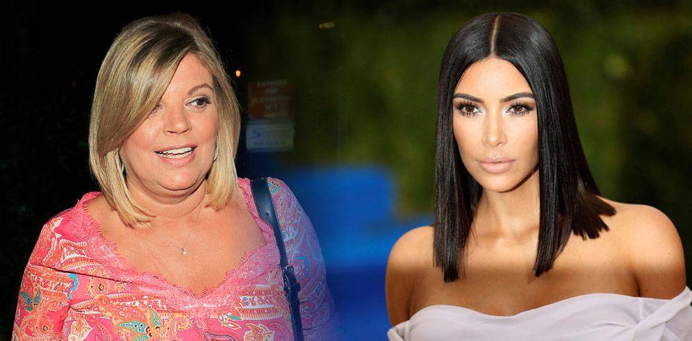 Foto: Terelu Campos y Kim Kardashian, en un fotomontaje realizado por Vanitatis
