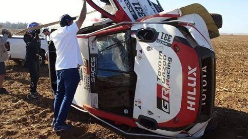 Primer susto para Fernando Alonso: vuelca con el Toyota en su preparación al Dakar