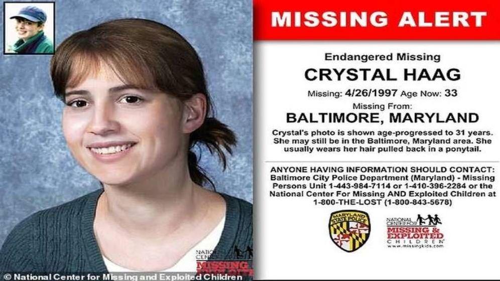 Foto: Imagen de la joven distribuida en carteles de búsqueda. (National Center for Missing and Exploited Children)