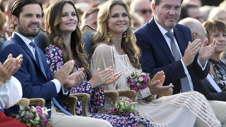Los hermanos y cuñados de Victoria de Suecia no se perdieron el cumpleaños. (Cordon Press)
