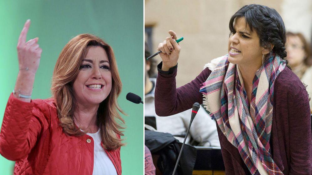 Foto: La líder del PSOE en Andalucía, Susana Díaz, y la de Podemos, Teresa Rodríguez. (EFE)