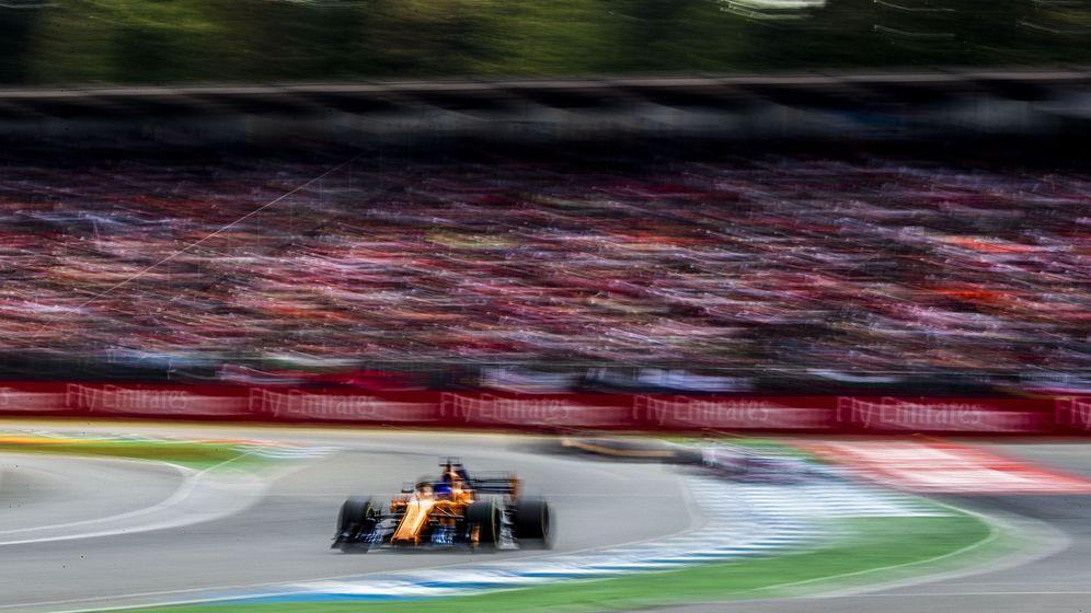 Foto: Fernando Alonso, en el Gran Premio de Alemania. (Reuters)